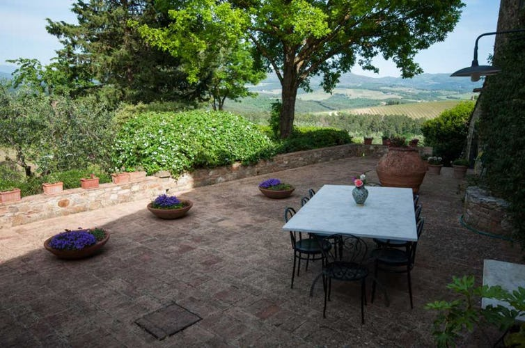 Beautiful terrace area for relaxing and meals at Montrogoli