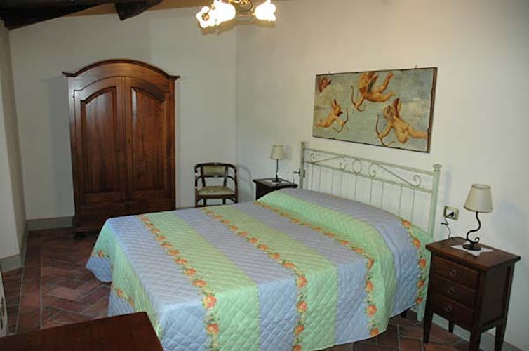 Bedroom in agriturismo Orticaia near Florence