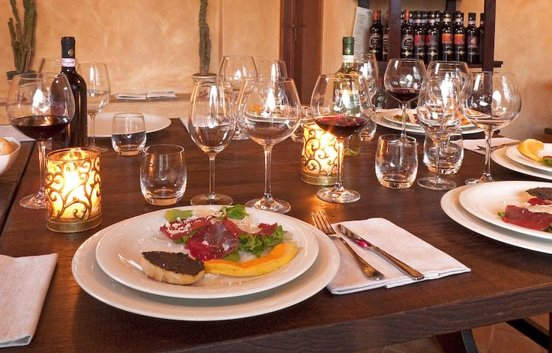 A typical Tuscan restaurant is on the property for a genuine meal