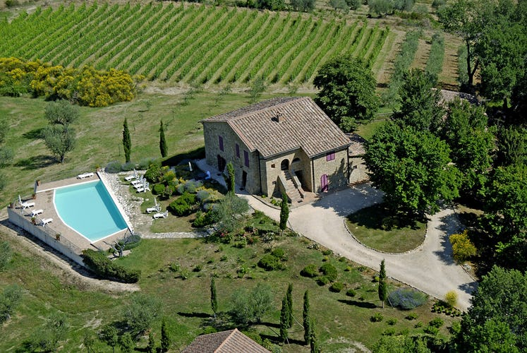 Podere Colombaiolo - Aerial View