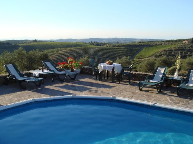 Podere Patrignone promises panoramic views of Chianti