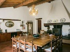 Villa Patrignone has a dining room large enough for 14 persons