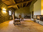 Living room with fireplace Poderi Firenze
