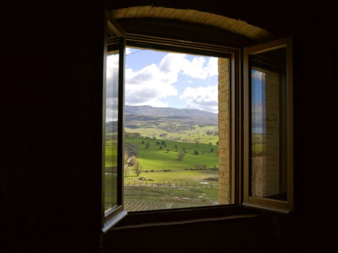Grosseto country accommodation, view from the window