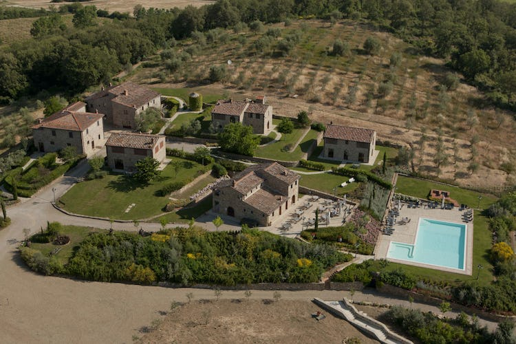 Poggio Cennina - Aerial View with Pool