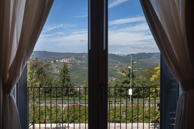 Overlooking the beautiful hills that surround Fiesole
