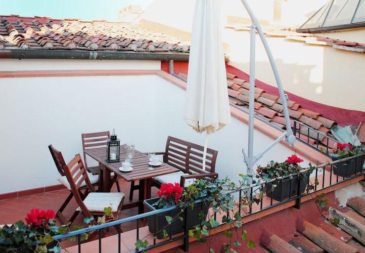 L'esclusiva terrazza di Attico dove poter mangiare all'aperto