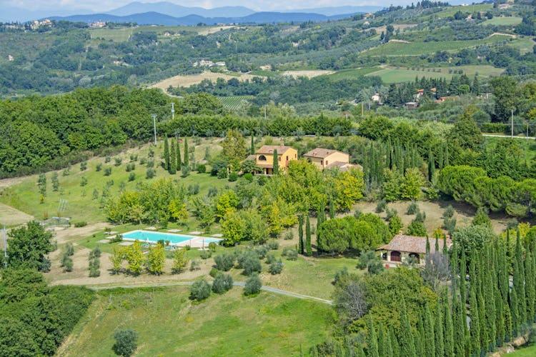 View of Tenuta Moriano Chianti Tuscany