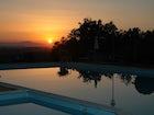 Pool at Sunset at Tenuta Moriano Chianti Tuscany