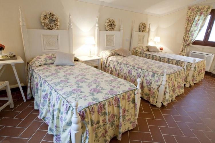 Comfortable bathroom in Tuscan farmhouse