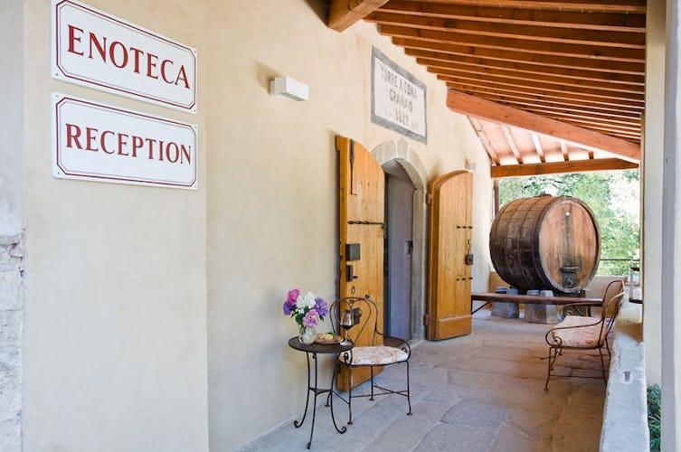Florence farmhouse wine cellar