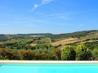 A panoramic pool for those lazy summer afternoons at Torre Palagetto