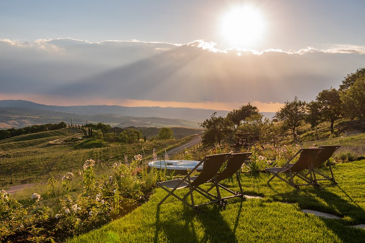Views of Valdorcia from Tuscany Equestrian Resort