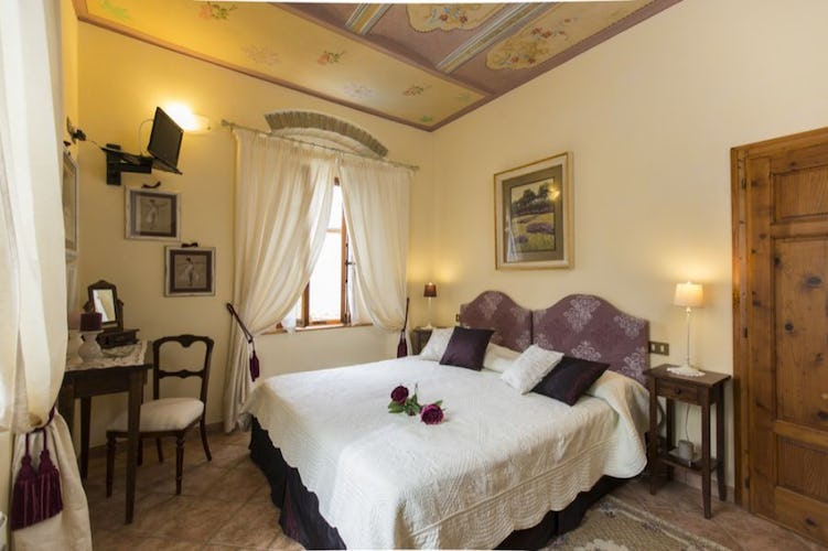 The romantic rooms have a floral motiff and colors