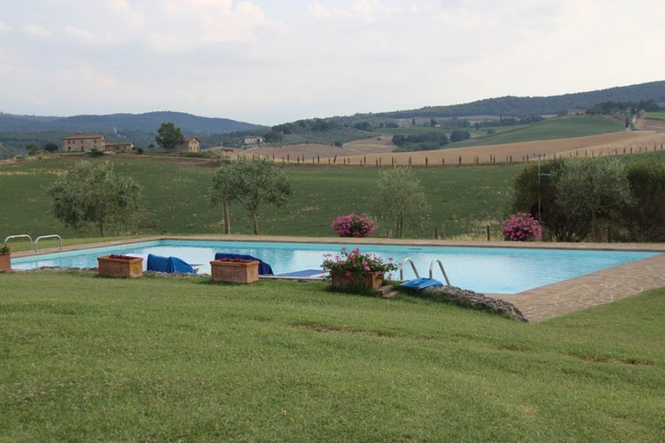 External pool overlooking the green hills