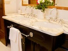Elegant private bathrooms in each suite and room at Villa Fillinelle