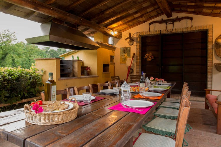 Villa La Fonte Vacation Rental - outdoor dining