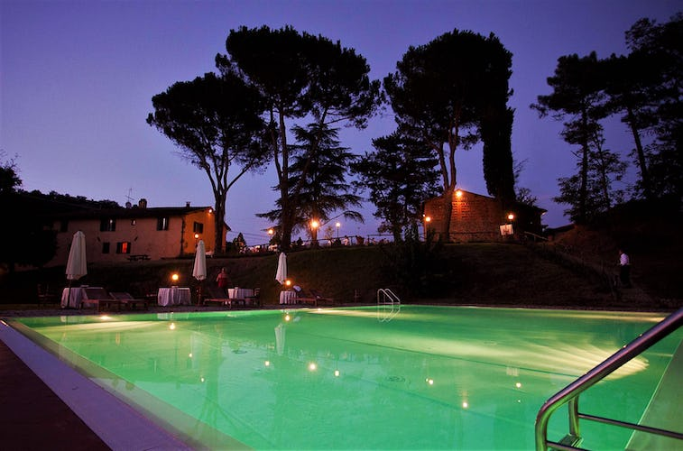 Poggio di Gaville Pool at Night
